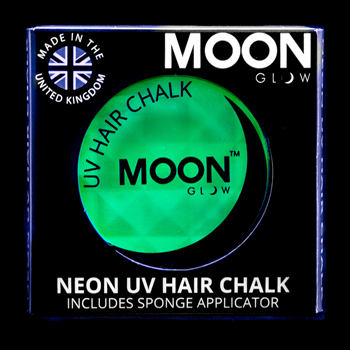 Moon Glow 3.5g UV Neon Hair Chalk Intense Green