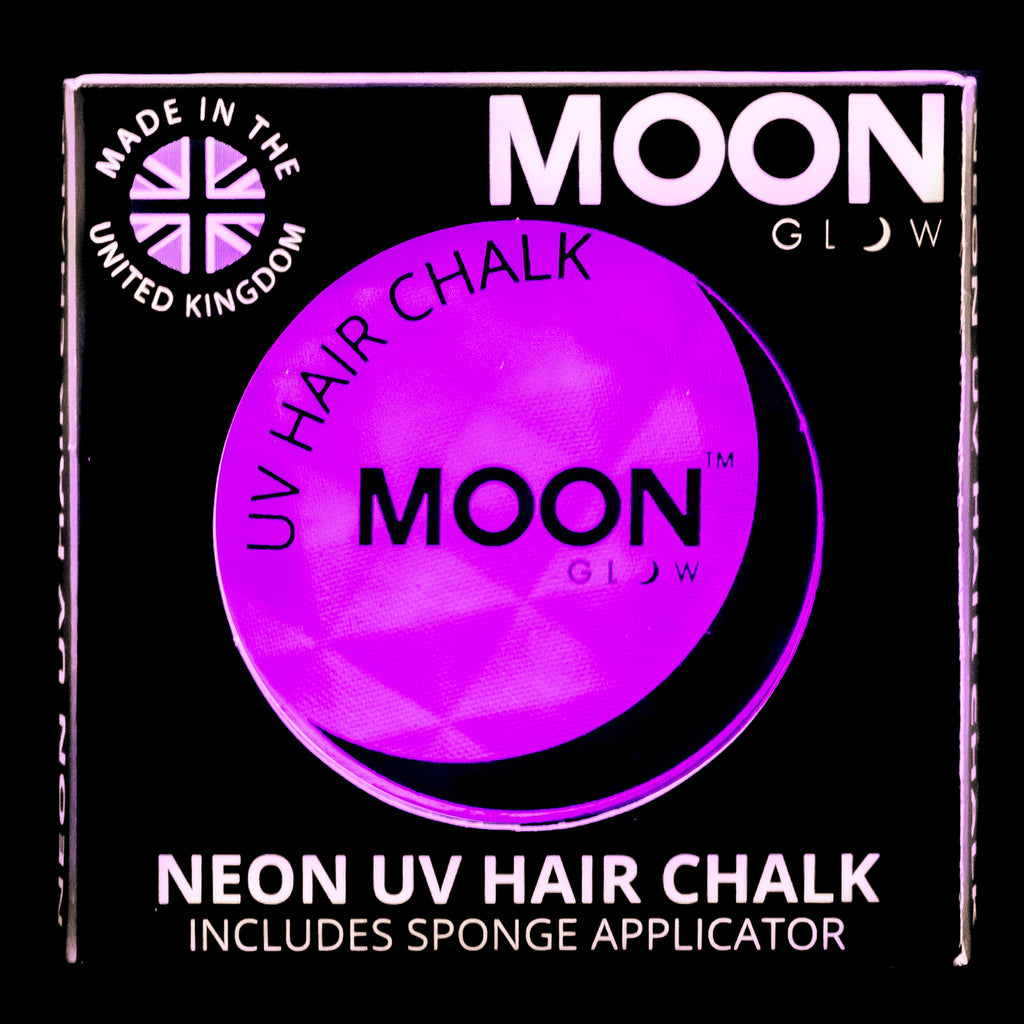 Moon Glow UV Neon Hair Chalk Intense Purple