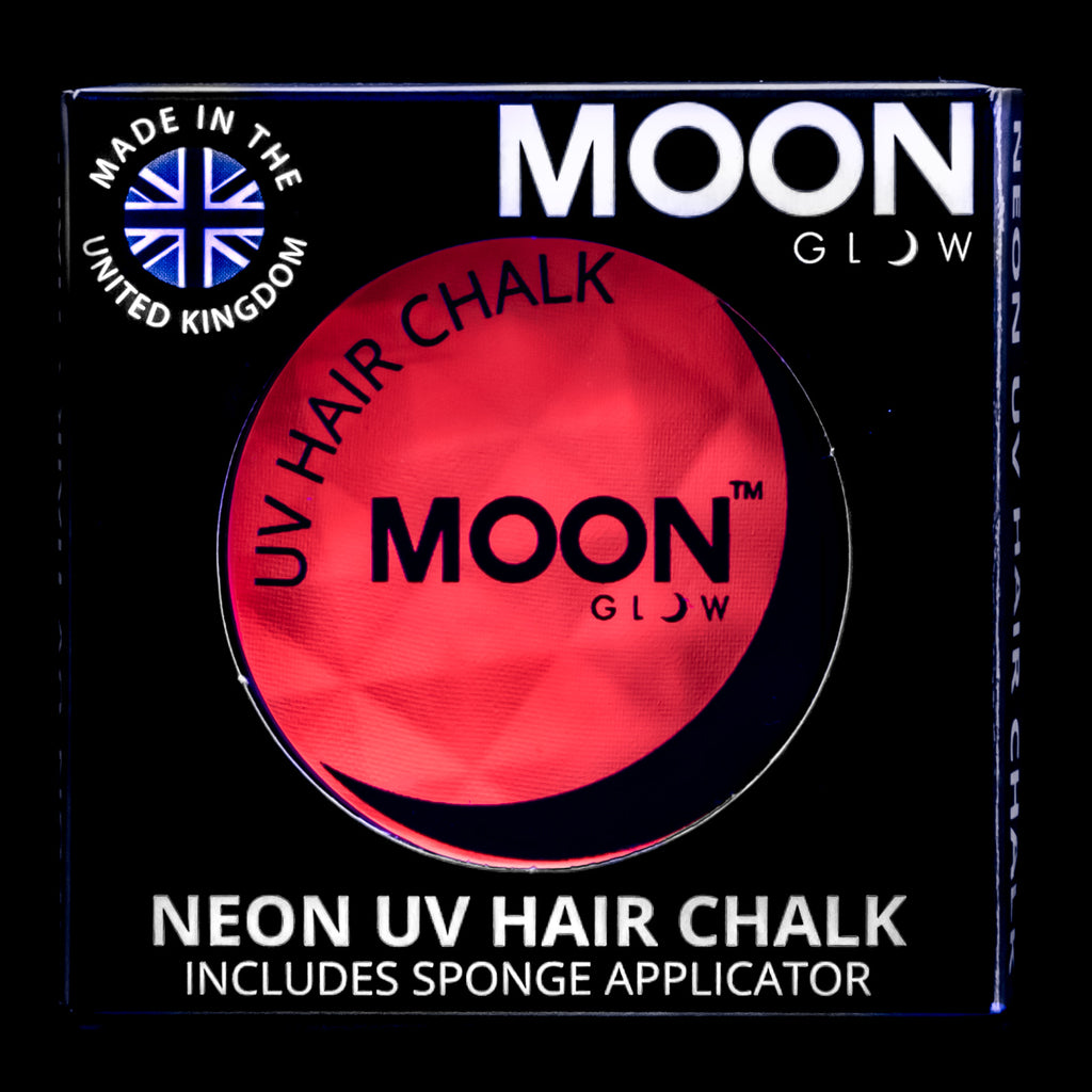 Moon Glow UV Neon Hair Chalk Intense Red
