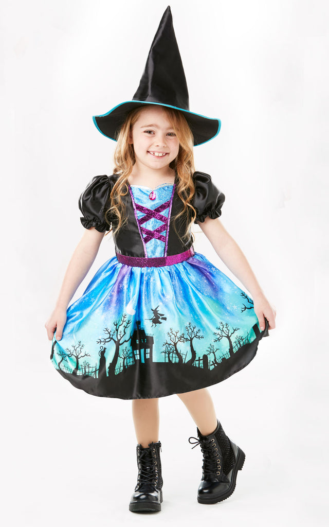 Girls Moonlight Witch fancy dress outfit