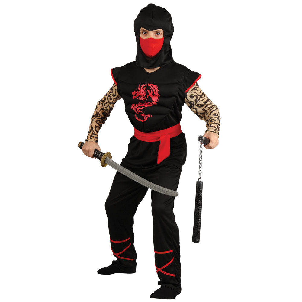 Boy Deluxe Muscle Chest Ninja Costume