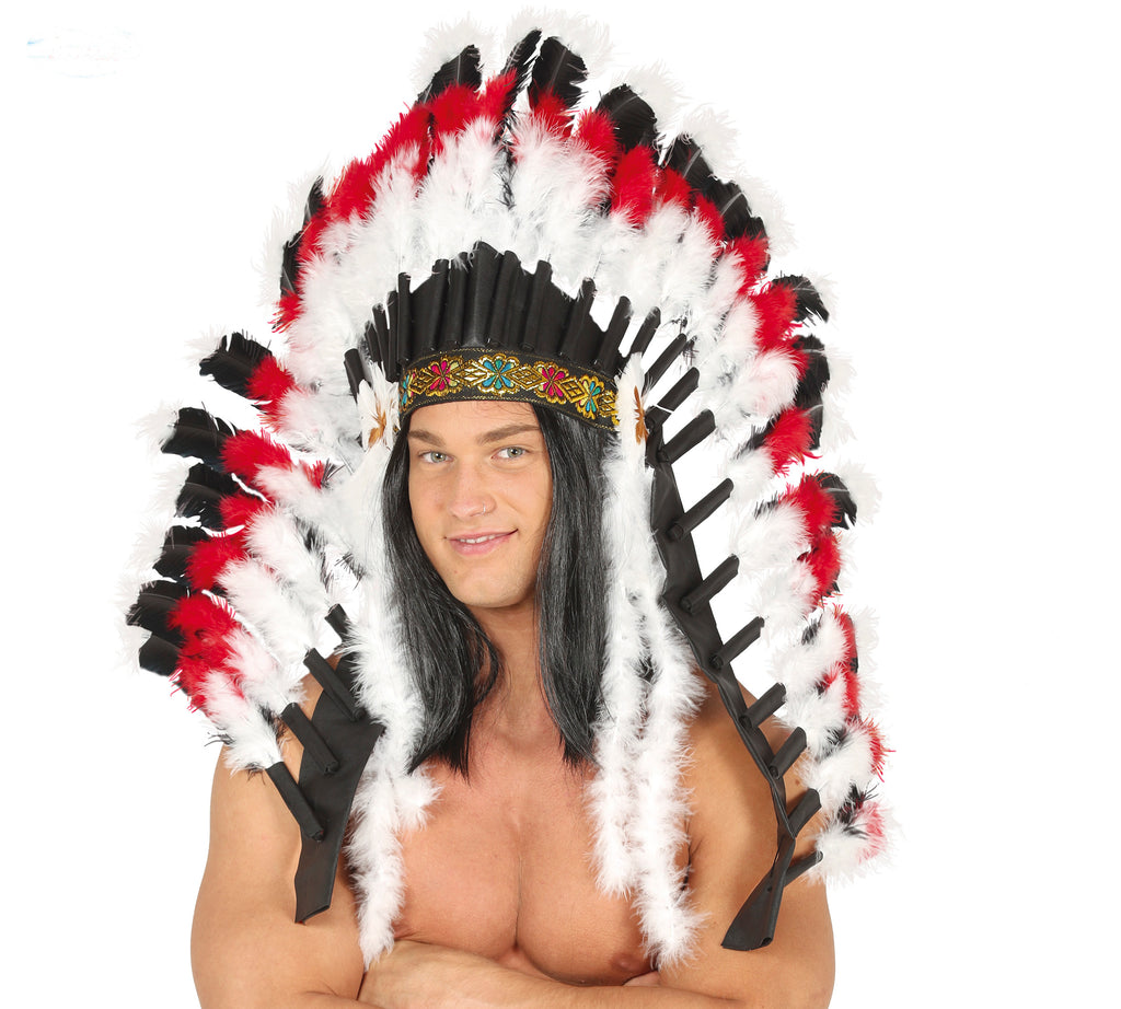 Native American Feather Headdress Deluxe