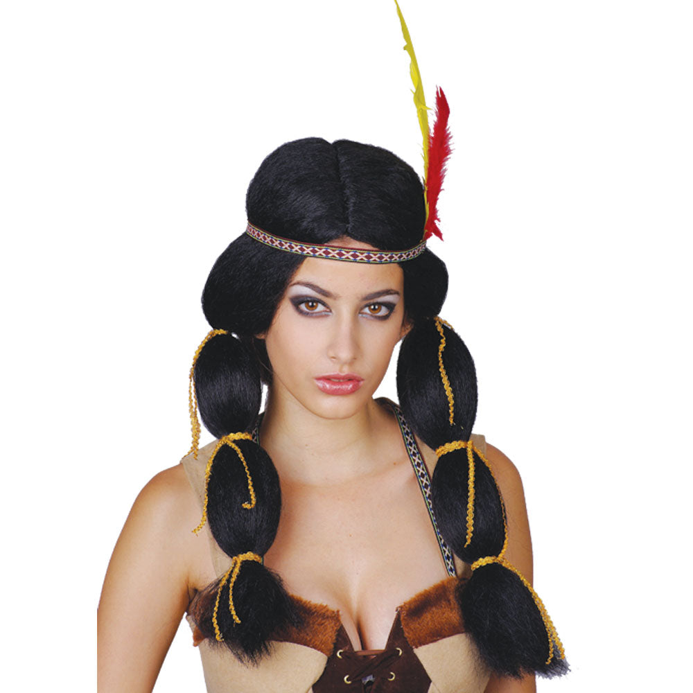 Native American Indian princess fancy dress wig