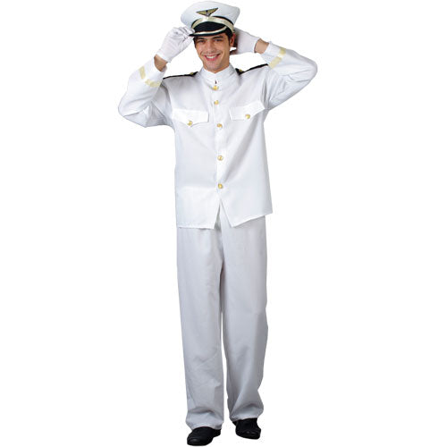 Officer and Gentleman Style Navy Captain Fancy Dress Costume