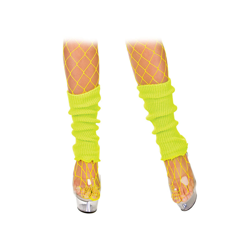 Neon yellow 1980's Leg Warmers