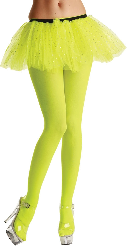 Opaque Neon Yellow Tights