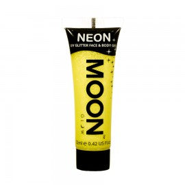 Moon Glow 12ml Glitter Gel UV Yellow