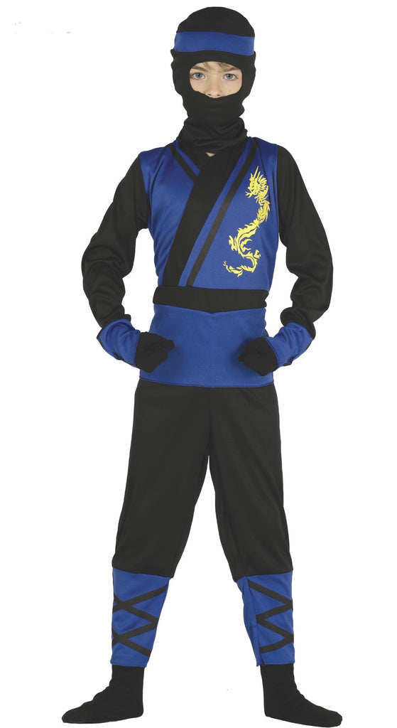 Boys Ninja Assassin Costume Blue