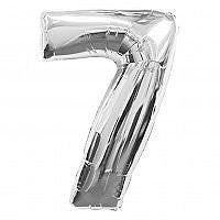Number 7 Silver Foil Balloon