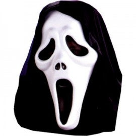 Official Scream movie Mask with Shroud