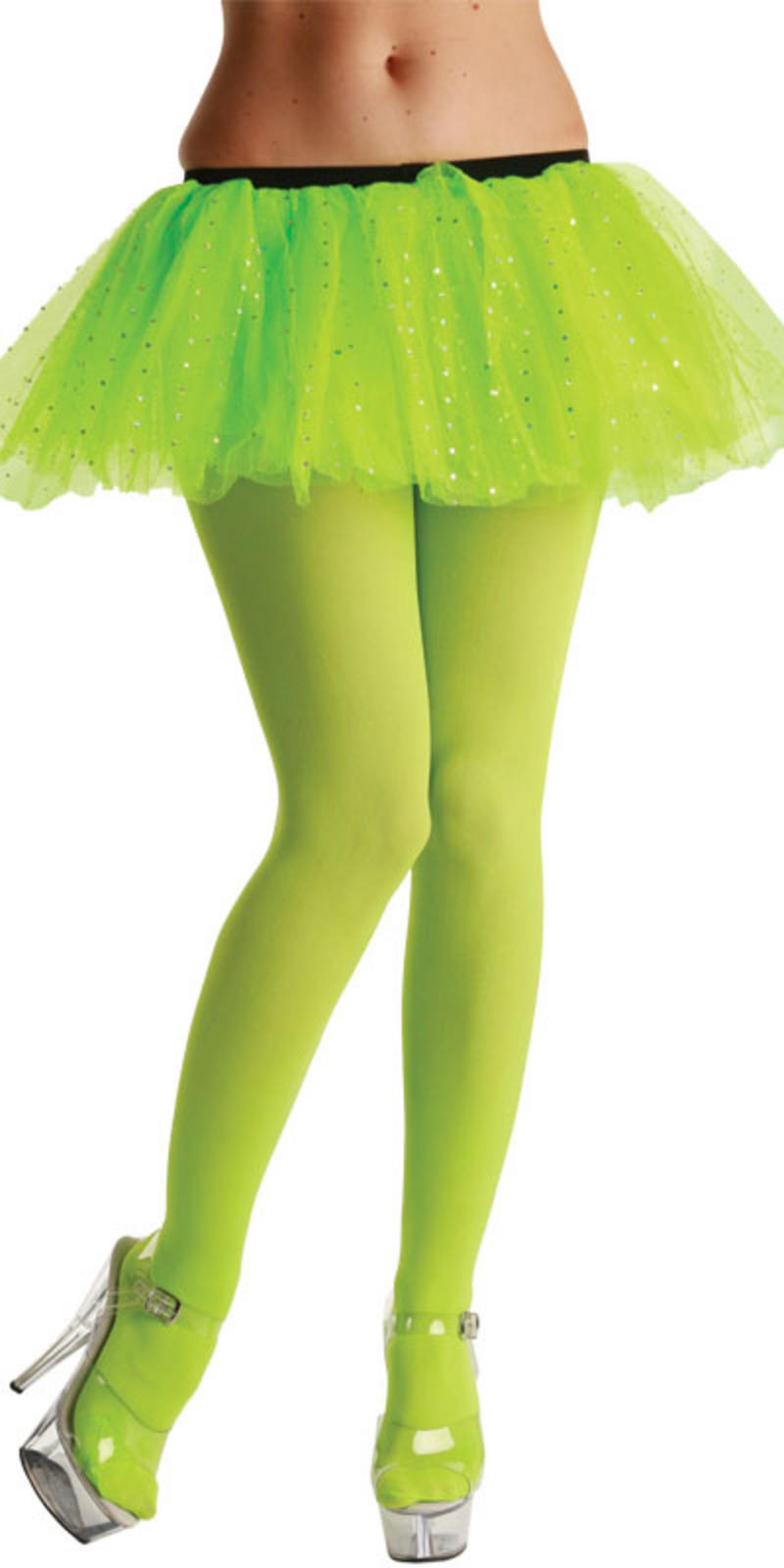 Opaque Neon Green Tights