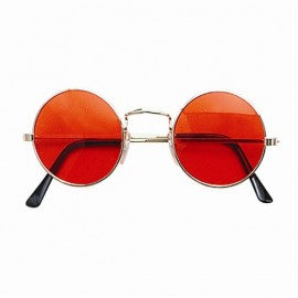 Orange Round Hippie Glasses