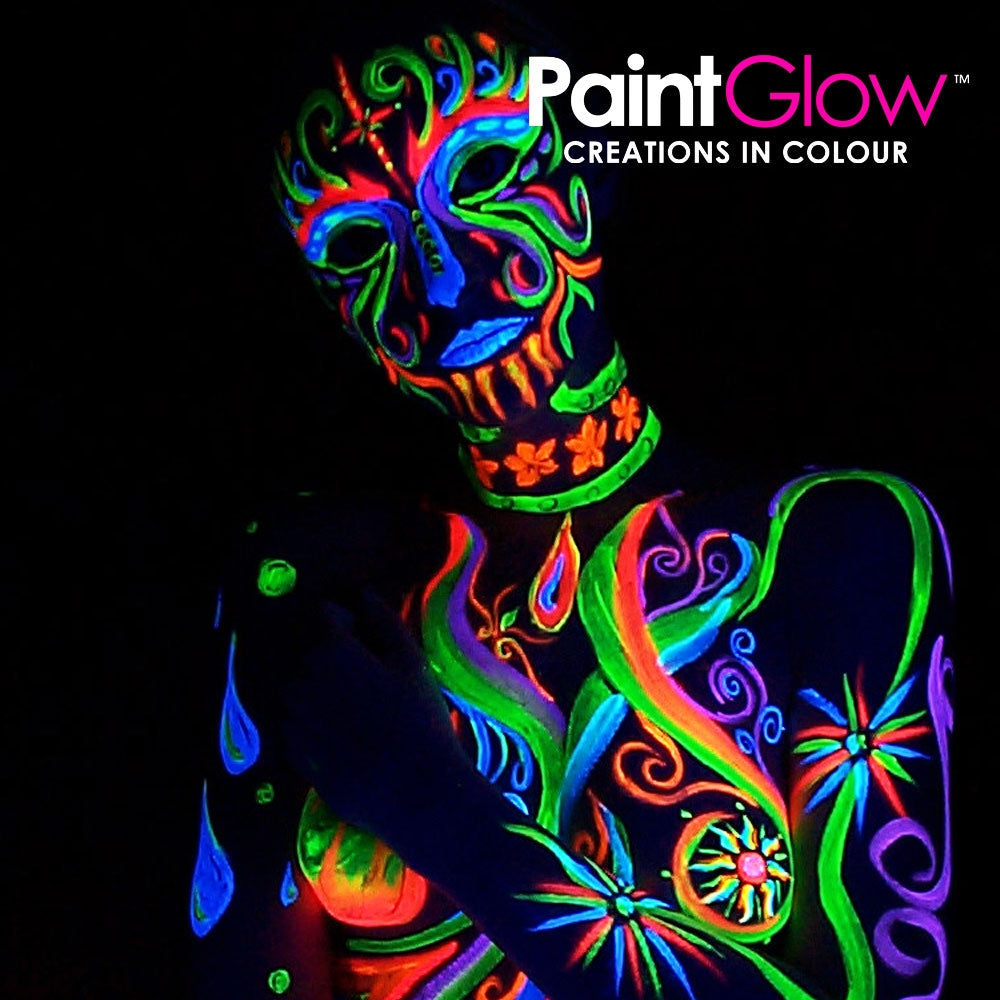 Paintglow Pro UV Face and Body Paint 50ml Yellow