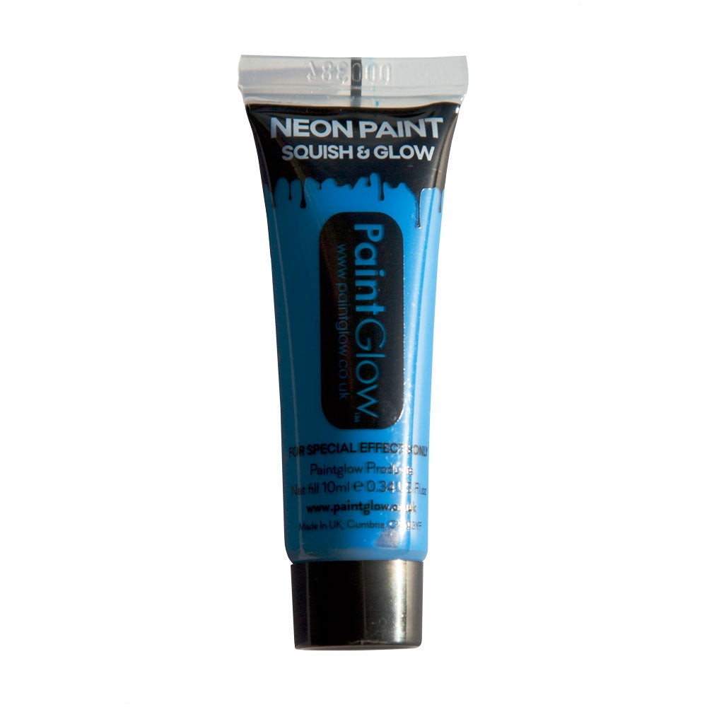 PaintGlow Neon UV Face Paint 10ml Blue