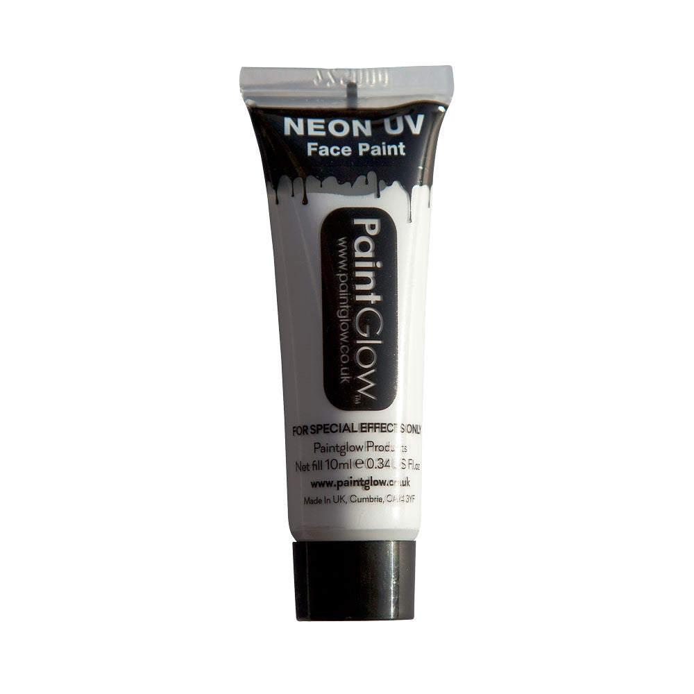 PaintGlow Neon UV Face Paint 10ml White