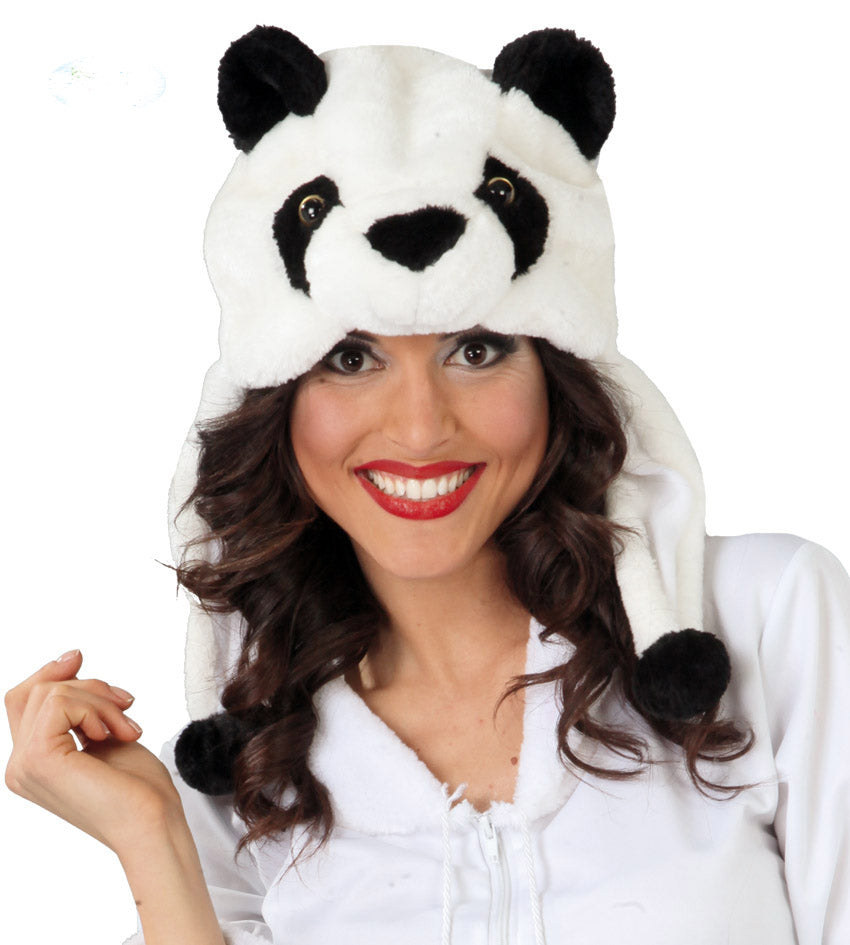 Plush Panda bear animal hat.