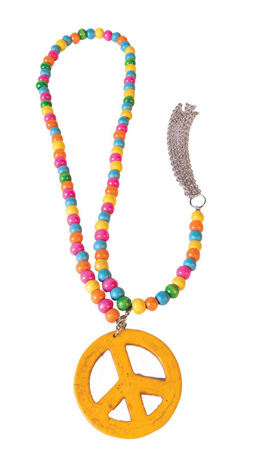 Peace Sign 60s Hippie costume necklace