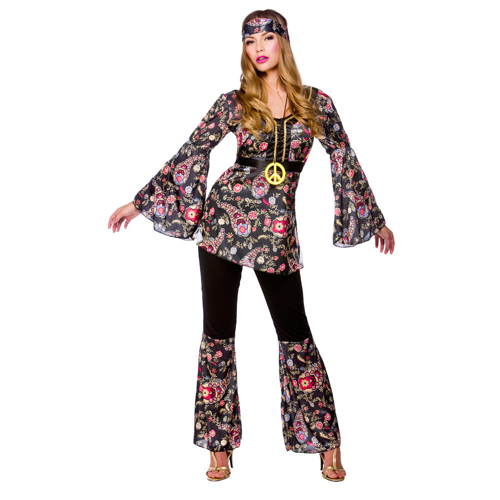 Peace Lovin Hippie 1960 fancy dress Costume for women.
