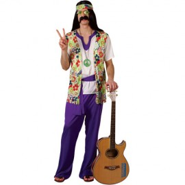 Peace Man Hippie Fancy Dress Costume