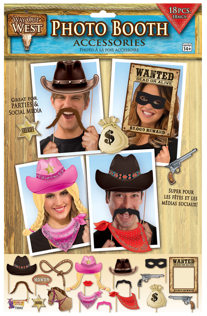 Photo Booth Props Wild West Party Theme