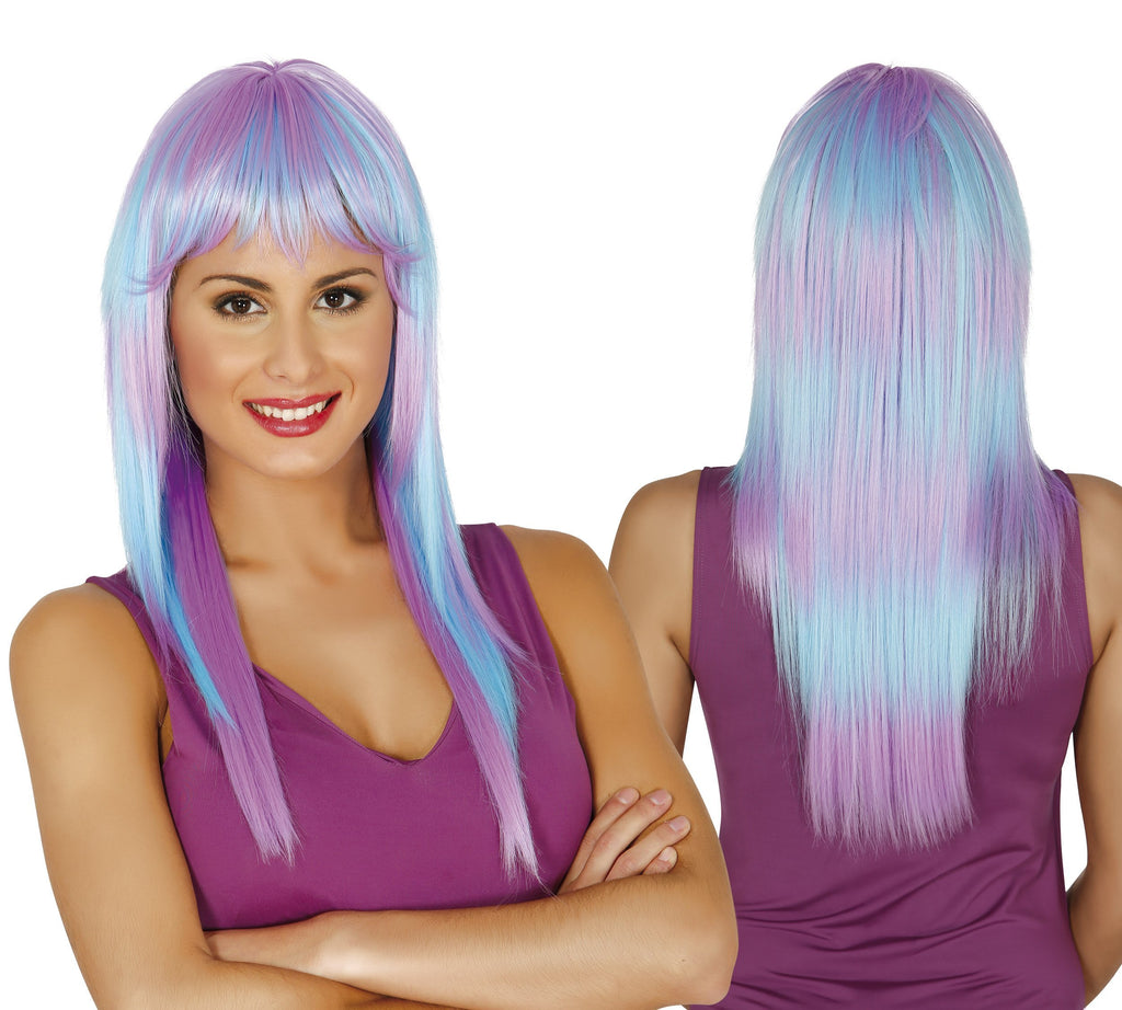 Two tone ladies neon wig