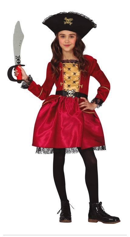 Pirate Princess Red Costume Girl