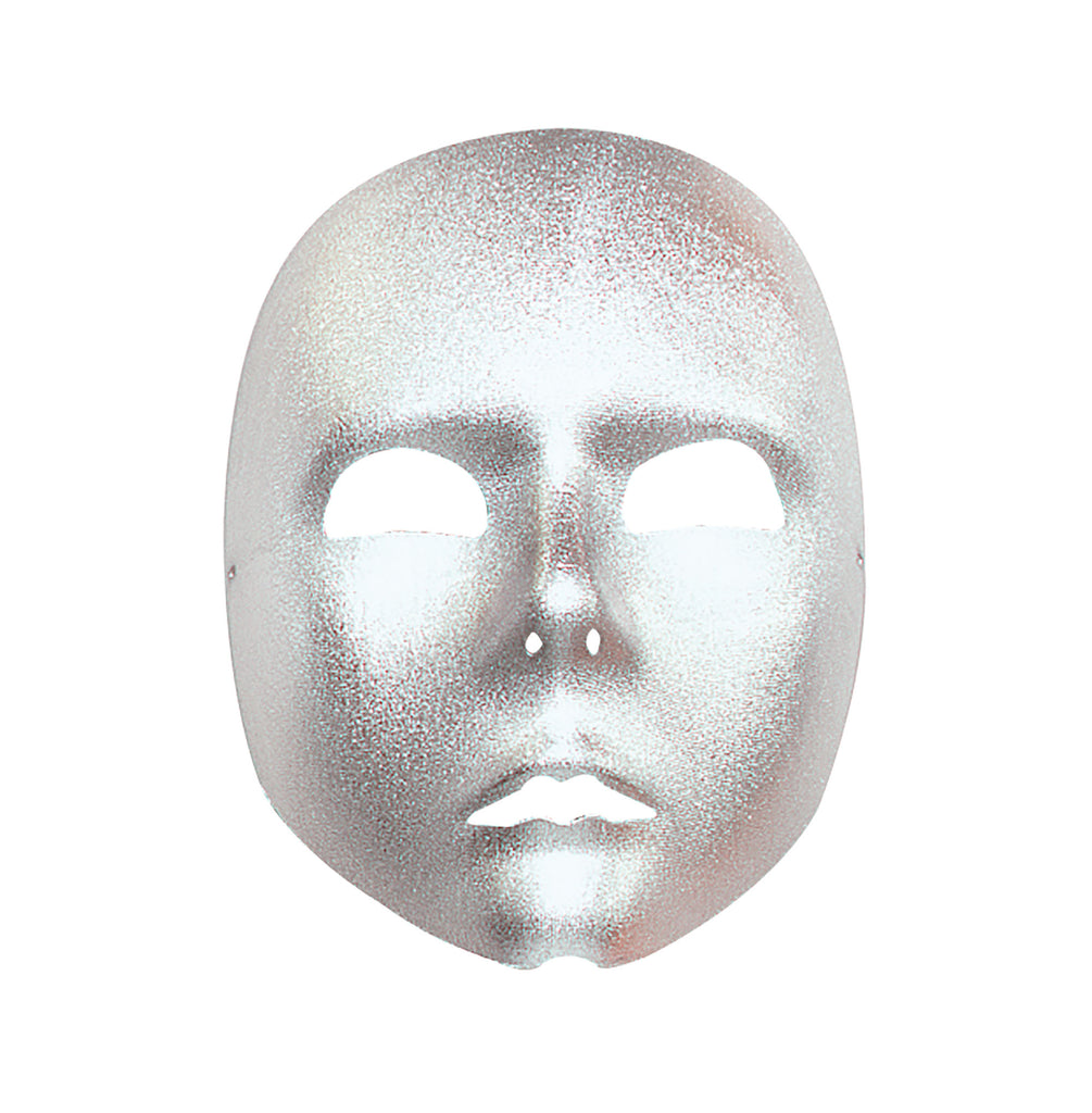 Plain Silver Face Mask