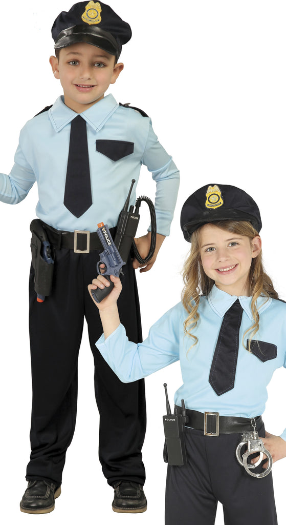 Kids Police Officer Costume for boys and girls.