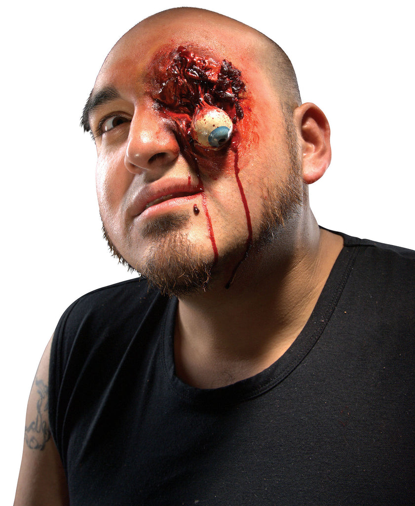 Popped eyeball special effects prosthetic