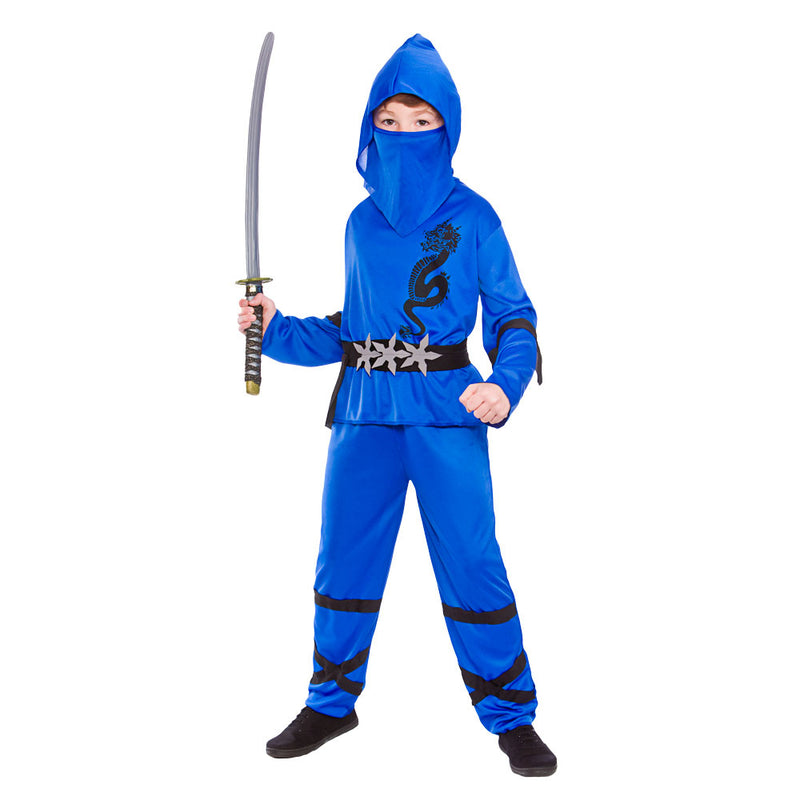 Children's Power Ninja Blue Costume