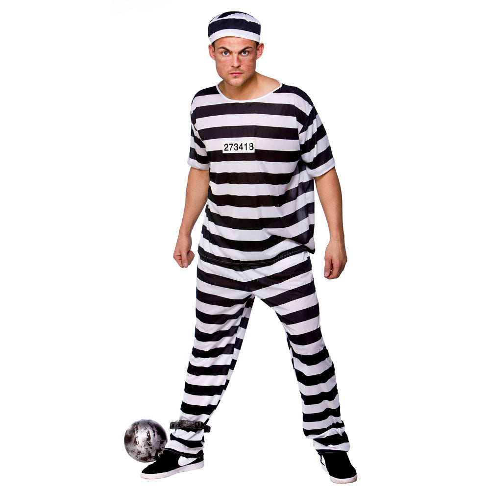 Prison Break Convict men's prisoner costume.