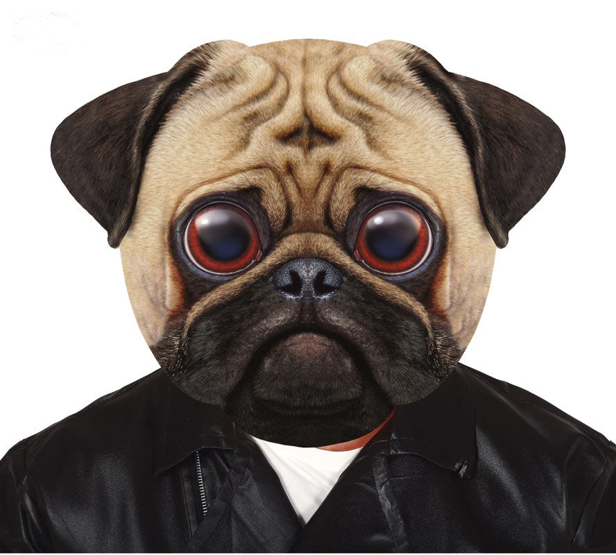Big head pug dog mask for fancy dress