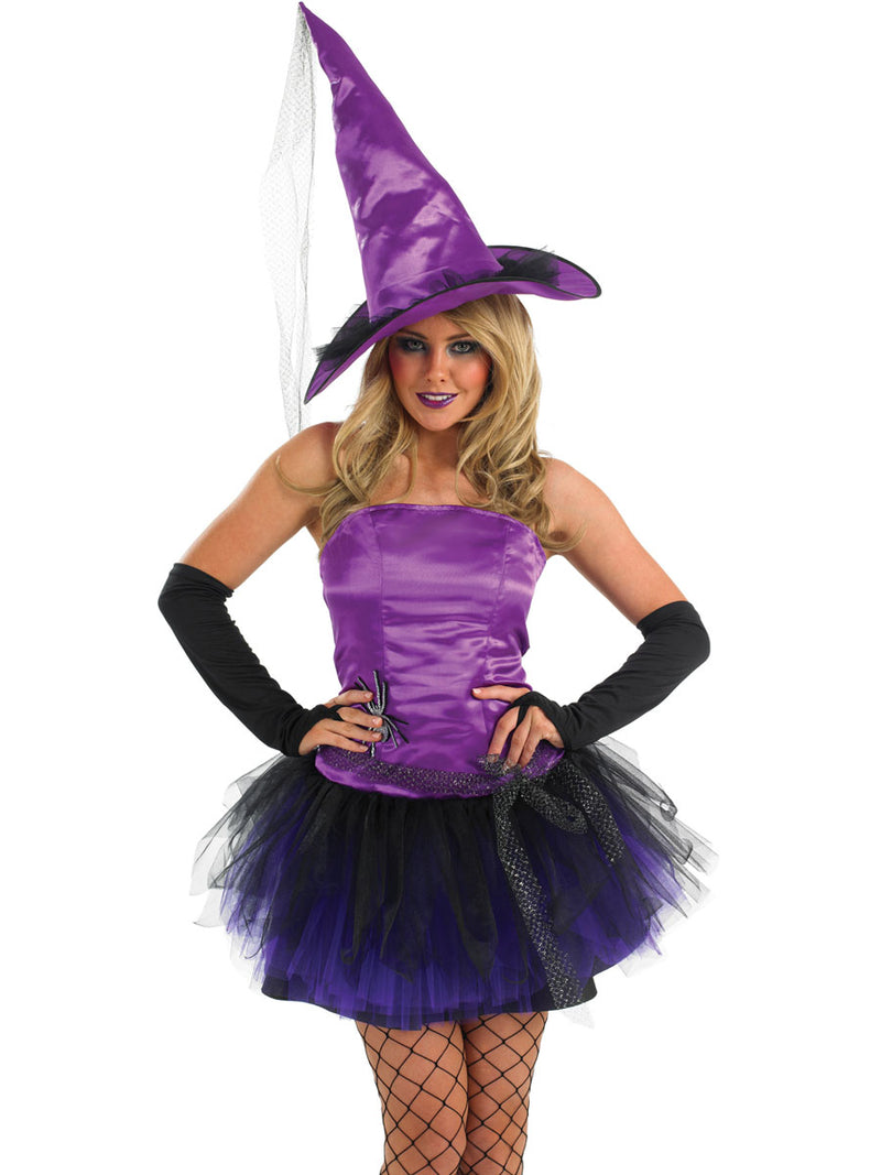 Purple Spider Witch Ladies Halloween outfit