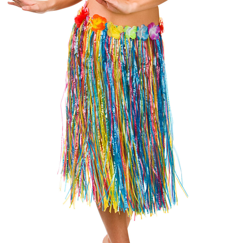 Rainbow Hula Hawaiian Grass Skirt