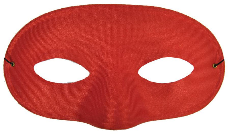 Red Satin masquerade Superhero Mask
