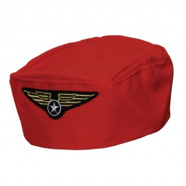 Red Flight Attendant Hat