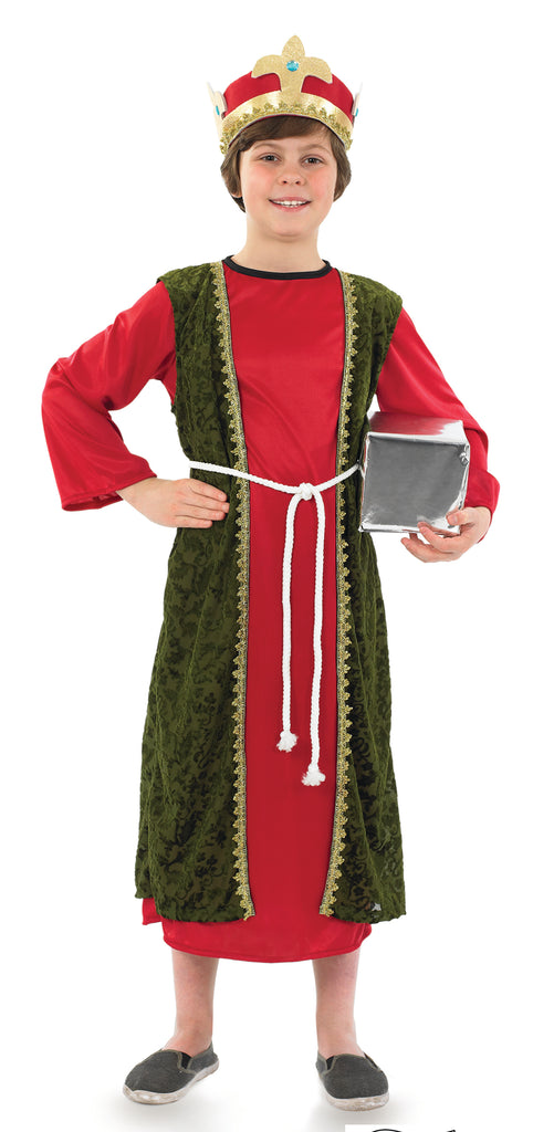 Red Wise Man Balthazar Costume Boys
