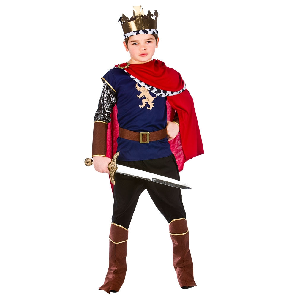 Regal Medieval King Boys Costume
