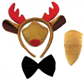 Reindeer Set Ear Nose Tail Bow Tie