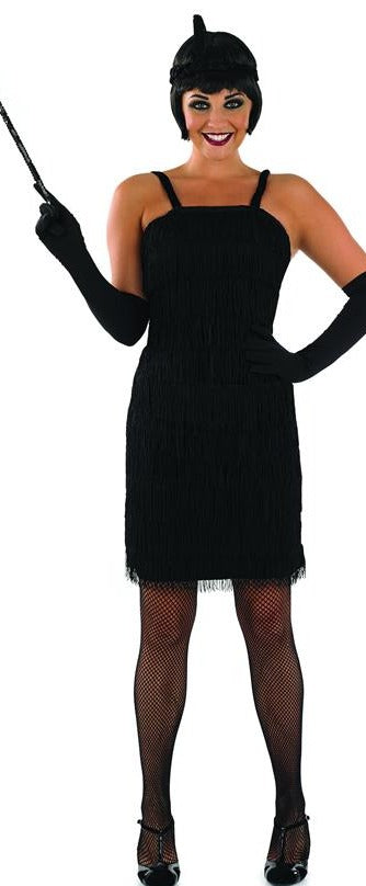 Women's Roaring 1920's Girl Black Flapper Costume