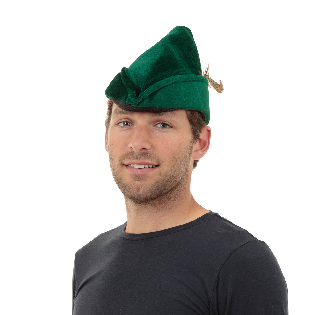 Robin Hood Felt Hat with Feather