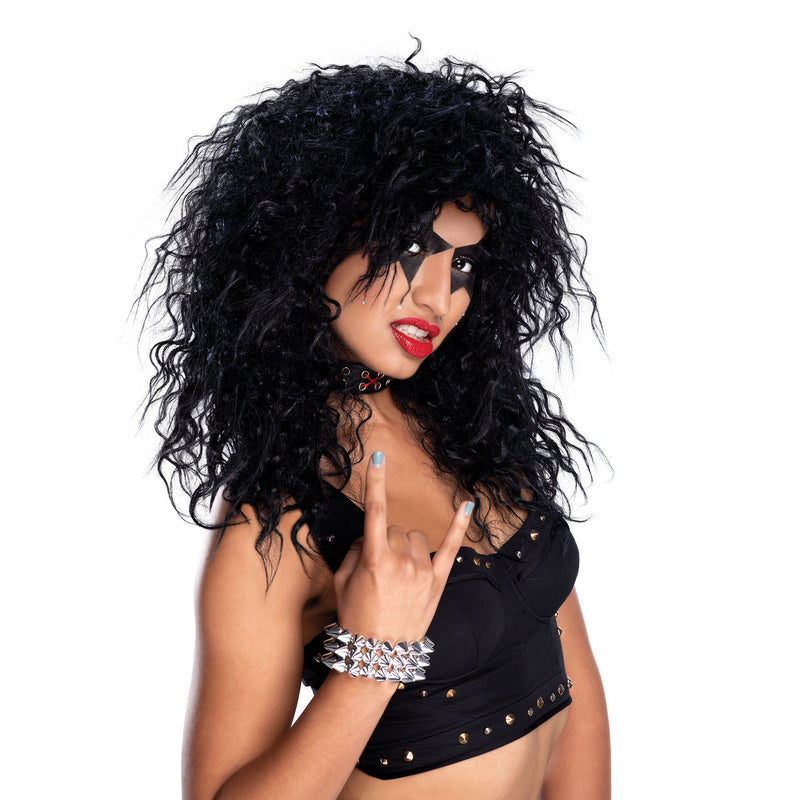 Rock Star Black ladies Wig
