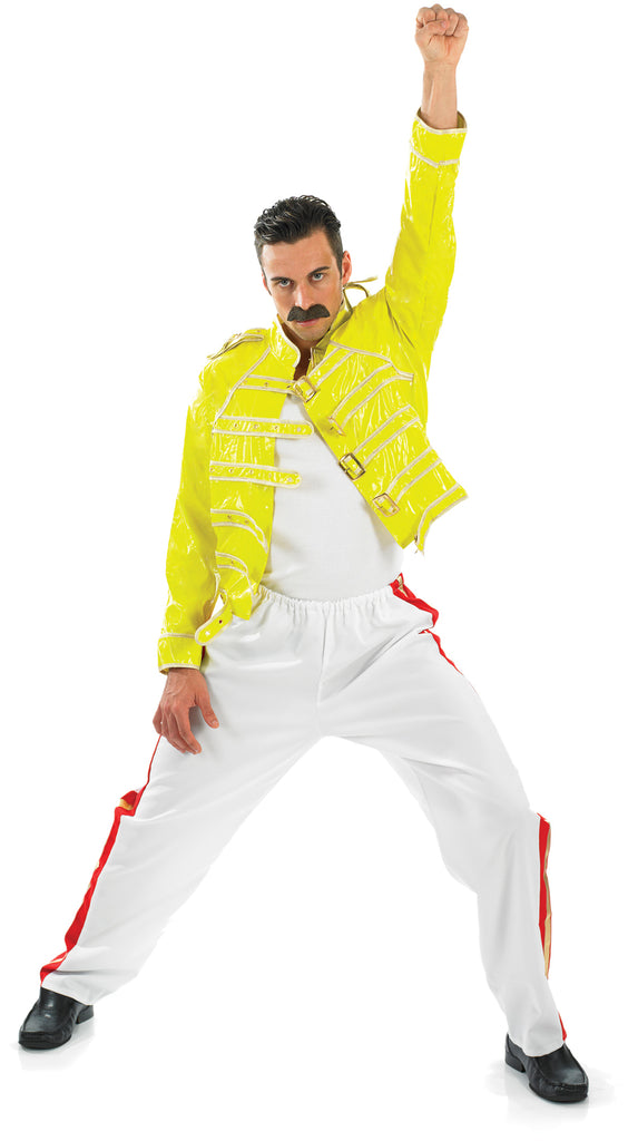 Men's Freddie Mercury Rock Legend 80s Costume