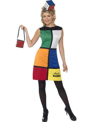 Everyone will be trying to move you into place in the fastest time when you're wearing this officially licensed Rubiks Cube Fancy Dress Costume which is styled on the popular hand held puzzle of the 1980s