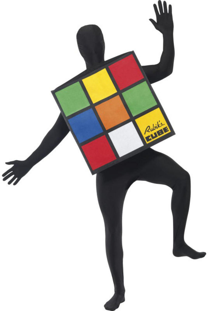 This Unisex Rubik's Cube Costume includes a colourful square shaped outfit that easily fits over your head and allows your arms to move freely.