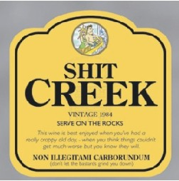Wine Labels - Shit Creek