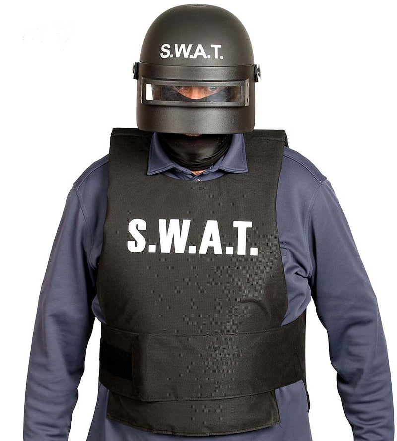 SWAT Riot Police Helmet for adults.