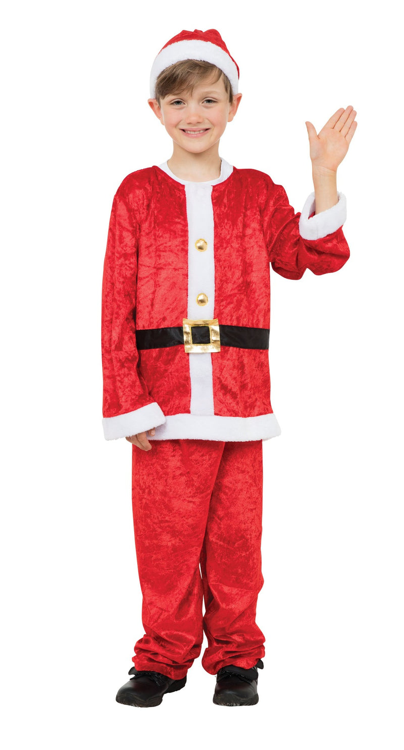 Santa Claus Boy Suit Costume
