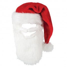 Deluxe Santa Hat With Moustash & Beard