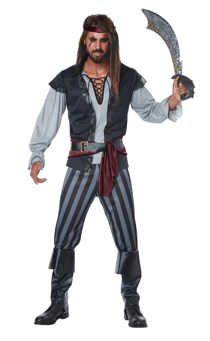 Set sail and become the scourge of the seven seas in this deluxe adult men's Scallywag Pirate costume.